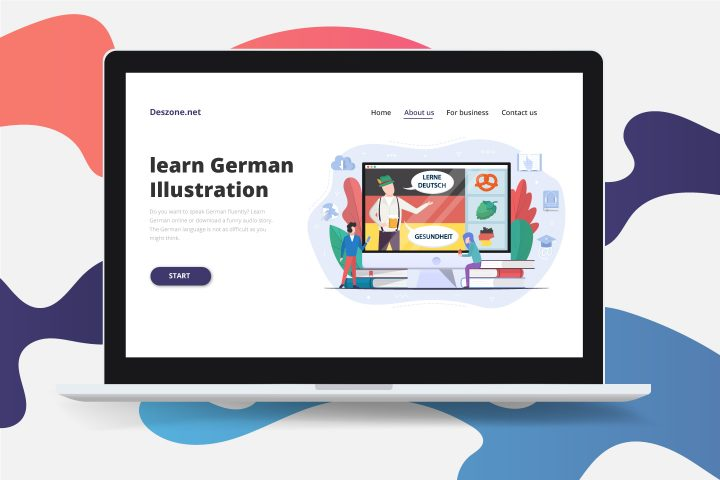 Learn German language Concept