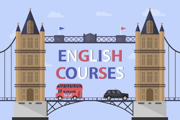 Learning English in London Illustration