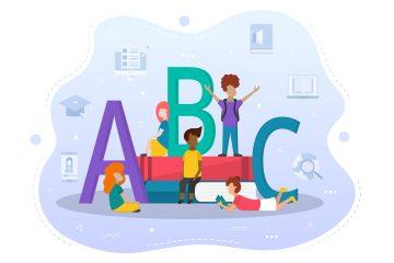 Learning Kids Concept Illustration