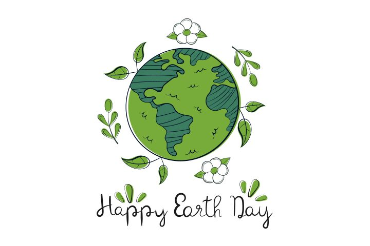 Lettering Happy Earth Day