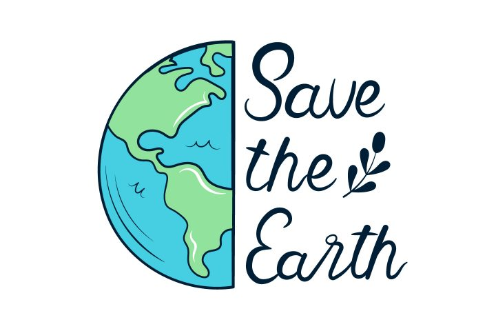 Lettering Save the Earth