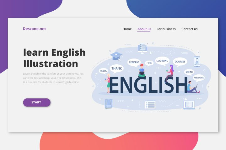 Letters Word English Concept