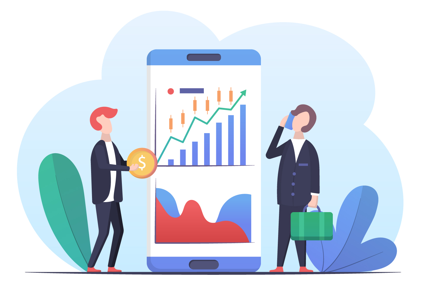 Mobile Stock Trading Concept
