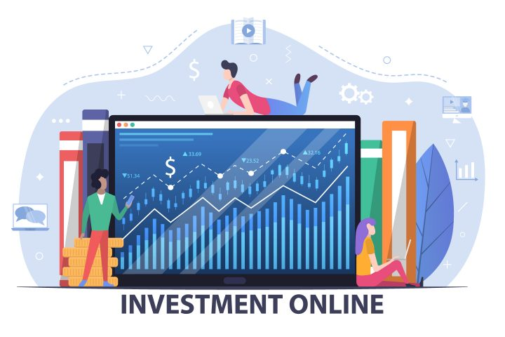 Online Investment Free Vector Flat Design