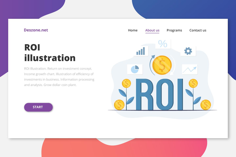 ROI Illustration Flat Design