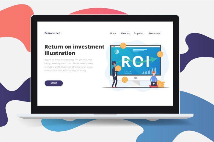 Return on Investment Free Vector Design