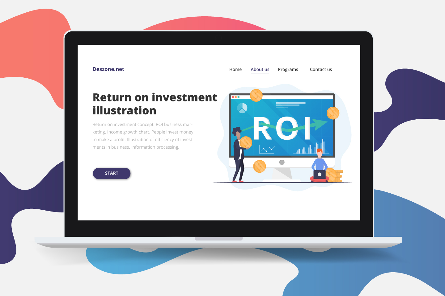 Return on Investment Concept Vector Design
