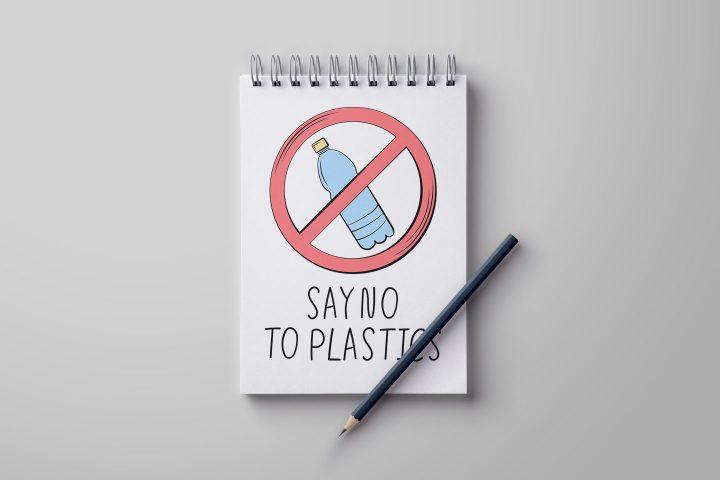 Say no to Plastics Illustration for Websites Vector Design