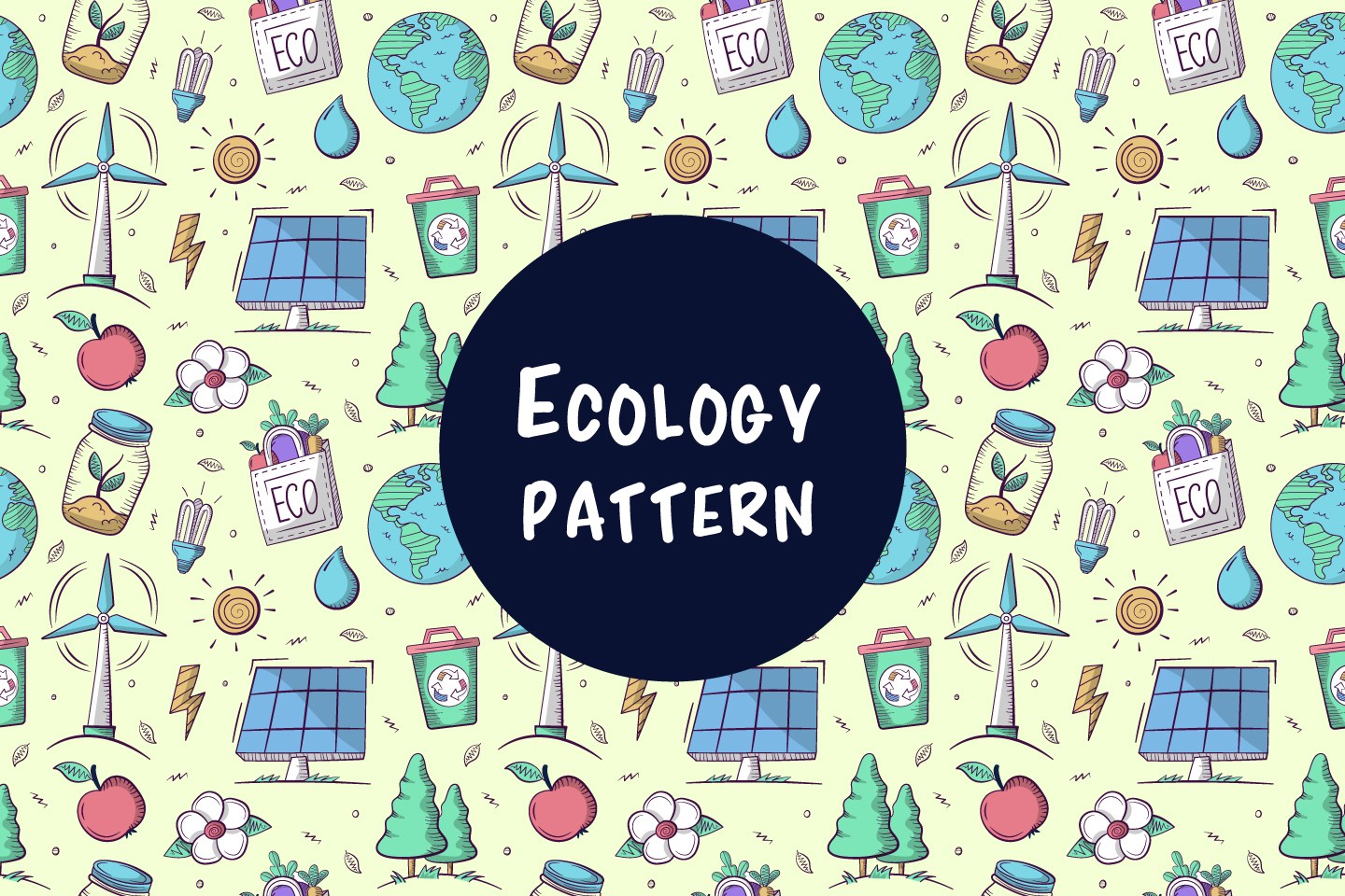 Seamless Pattern with Ecology