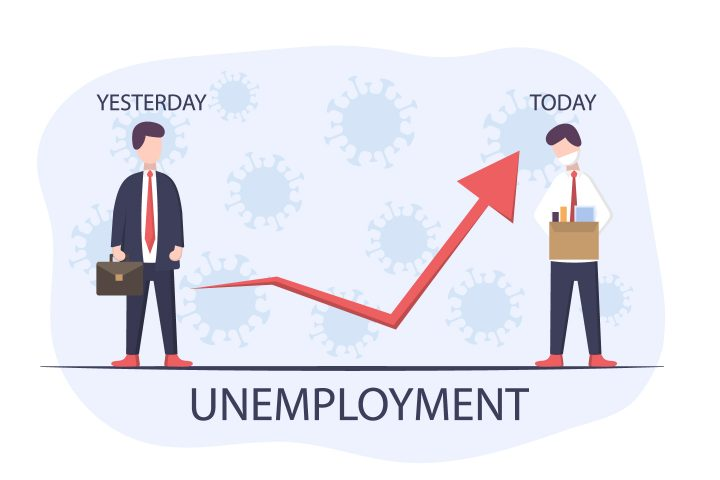 Unemployment Due to Epidemic and Pandemic Illustration