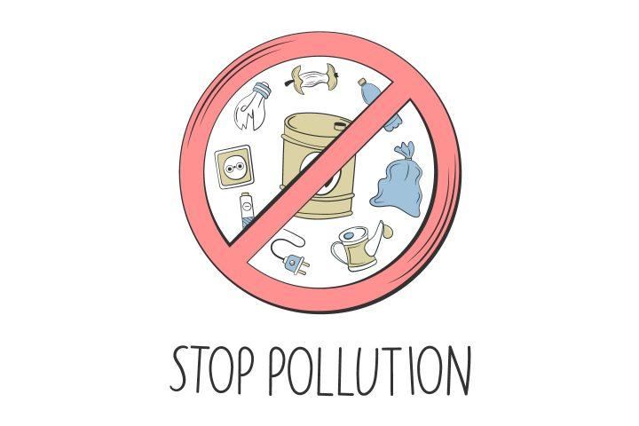 Vector Illustration of Stop Pollution