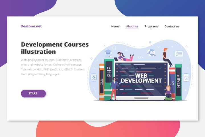 Web Development Courses Free Vector Design