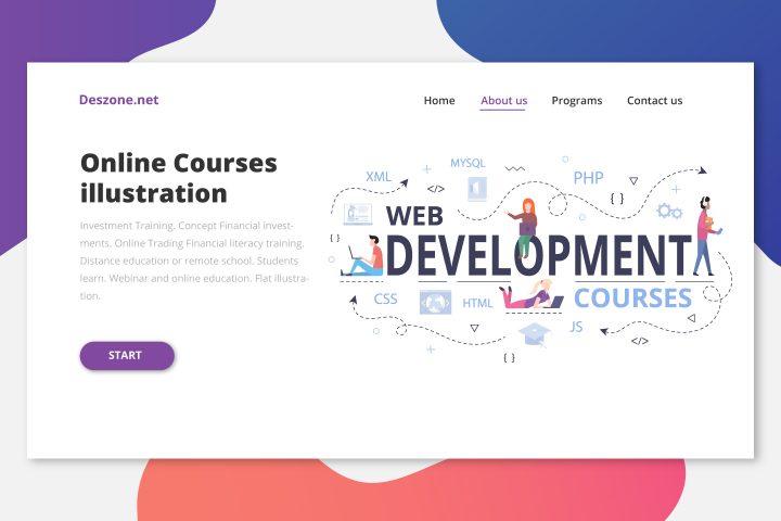Web Development Courses Online Illustrations