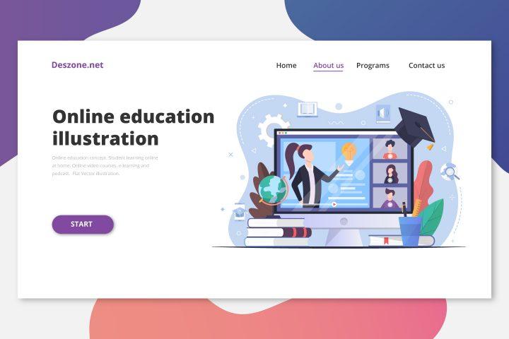 Webinar and Online Education Illustration