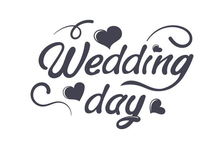 Wedding Lettering for the Design of Invitations Books Websites