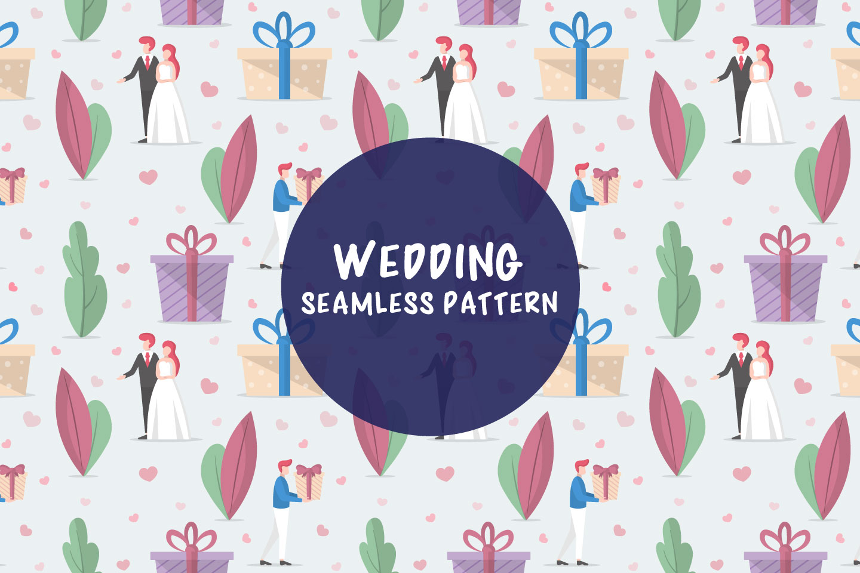 Wedding Seamless Vector Pattern