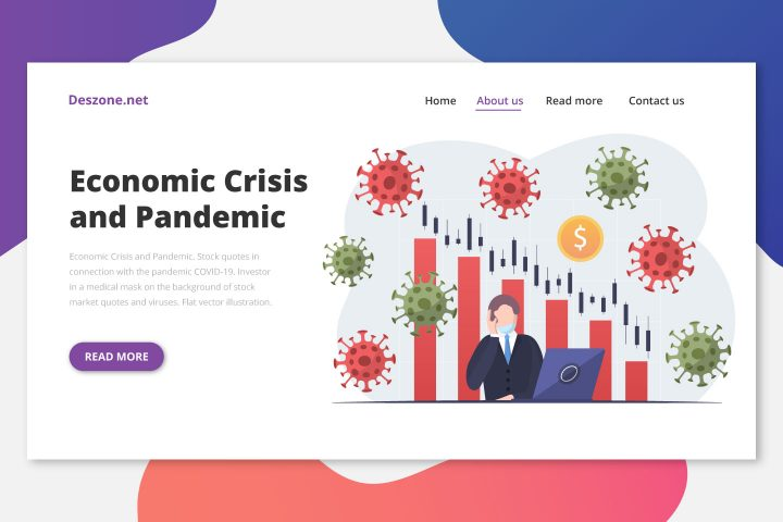 Economic Crisis and Pandemic Flat Design