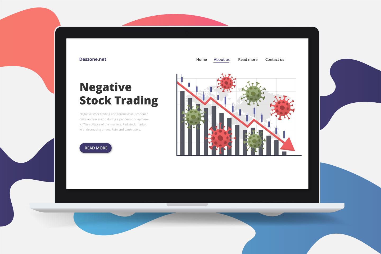 Negative Stock Trading and Coronavirus Concept