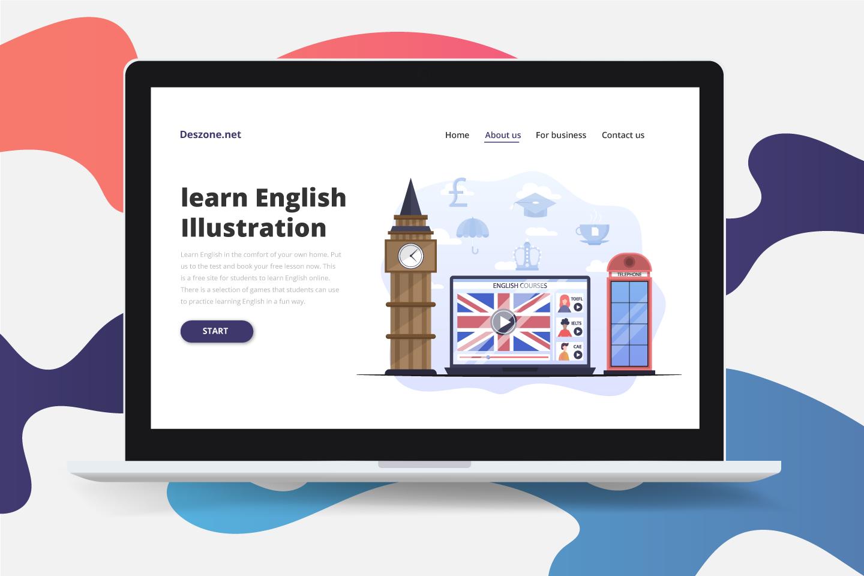 Learn English Concept Illustration