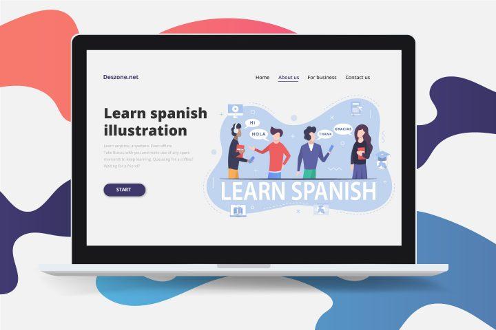 Learning the Spanish Language Free Illustration