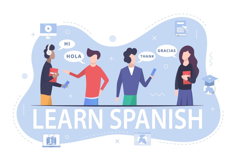 Learning the Spanish Language Illustration