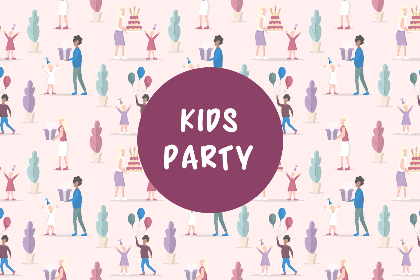 Kids Party Vector Seamless Pattern