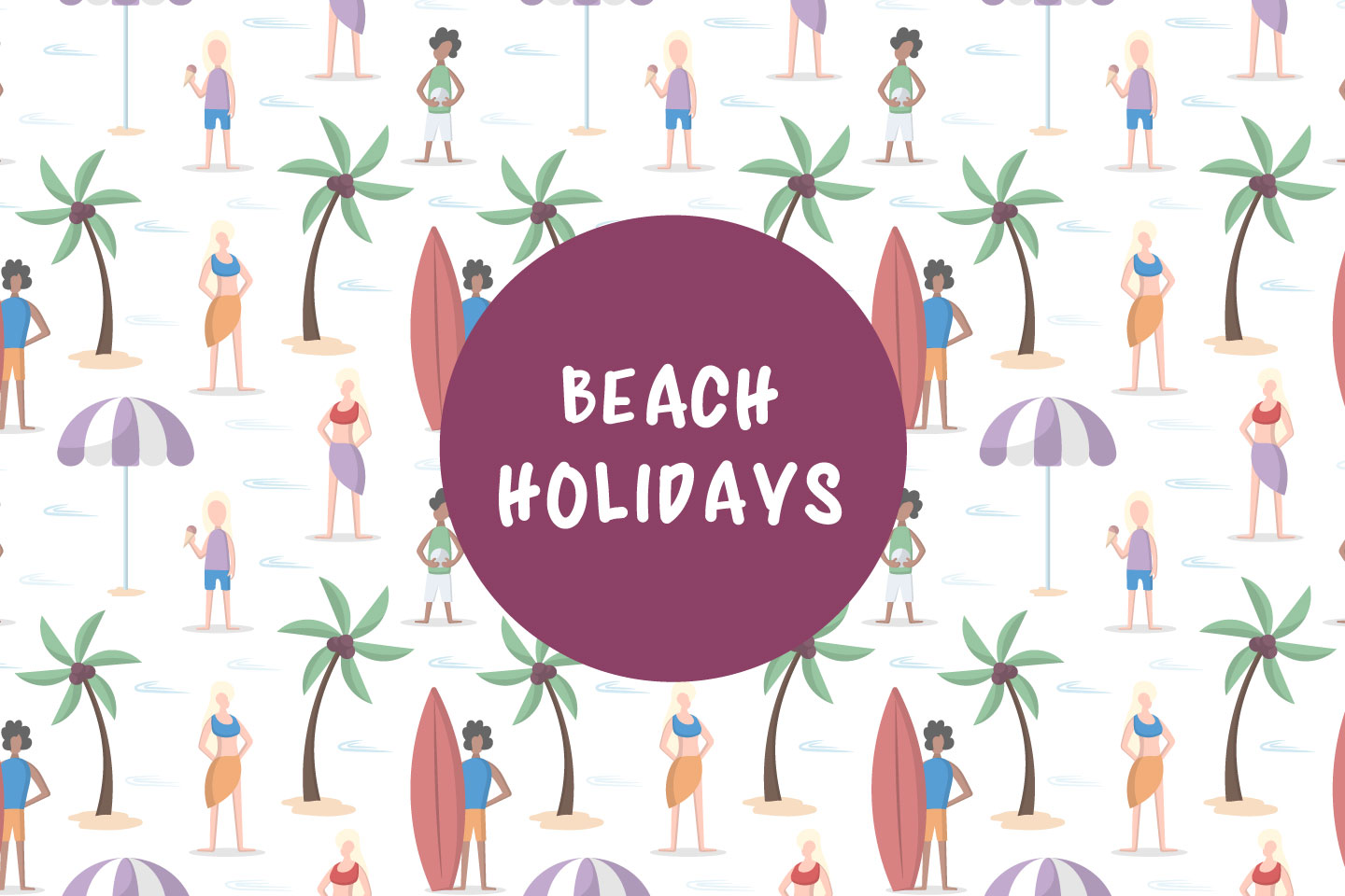 Beach Holidays Vector Seamless Pattern