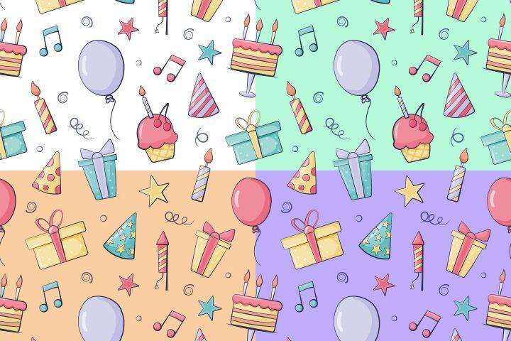 Birthday Vector Seamless Pattern