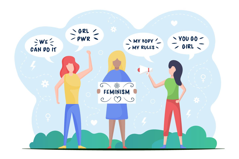 Feminism Vector Illustration