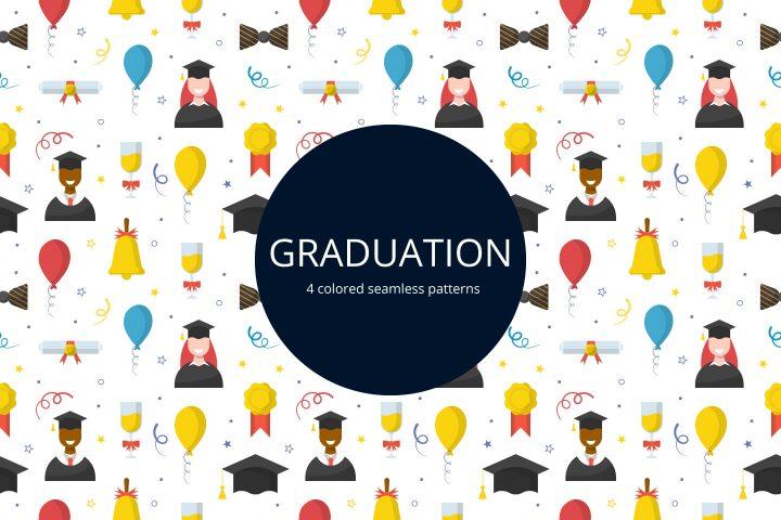 Graduation Free Vector Seamless Pattern