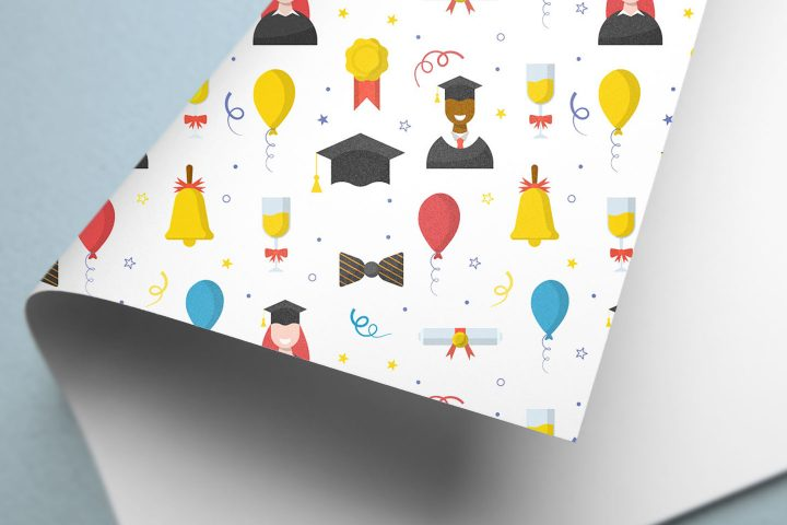 Graduation Free Vector Seamless Pattern
