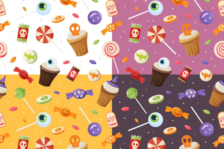 Halloween Treats Vector Seamless Pattern