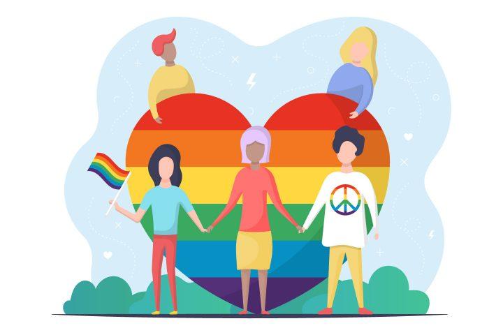 LGBT People Vector Illustration