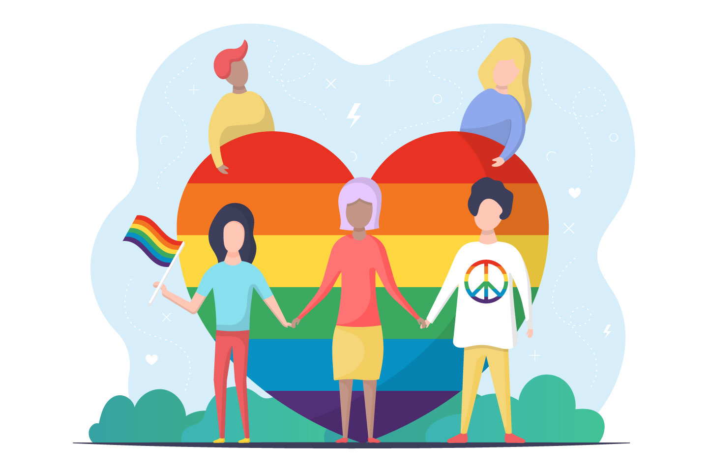 LGBT People Vector Illustration