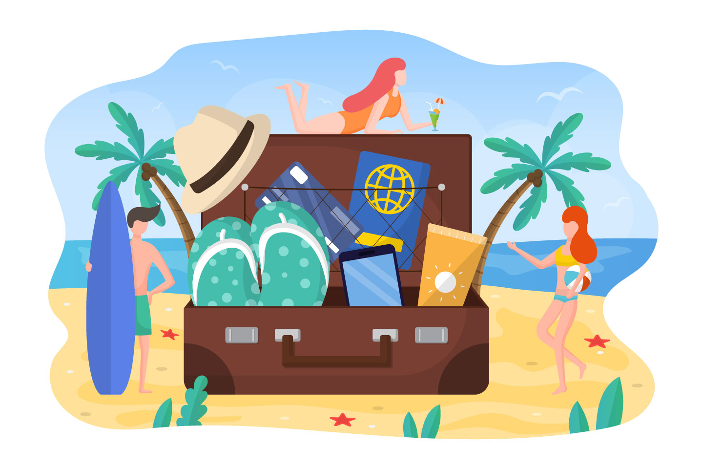 Preparing for Summer Vacation Graphic Concept