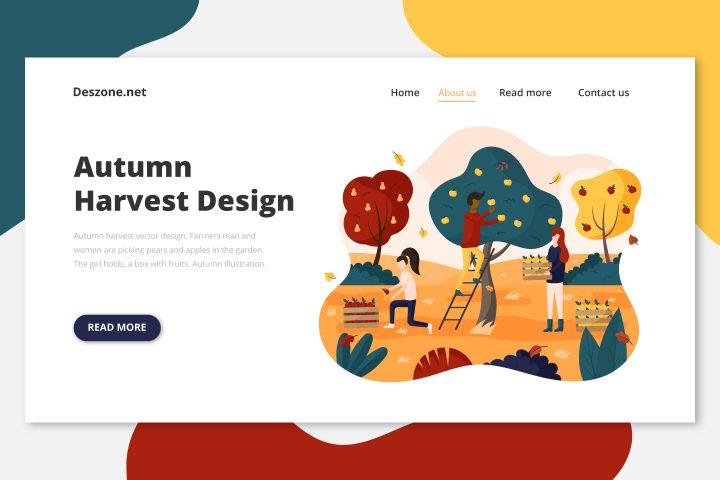 Autumn Harvest Vector Design