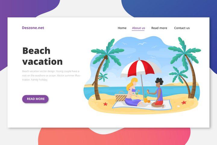Beach Vacation Vector Design