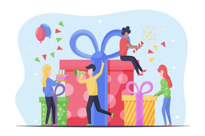 Birthday Party Free Vector Design