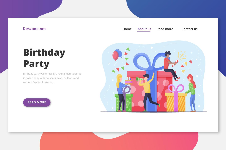 Birthday Party Vector Design