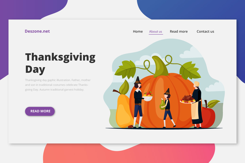 Thanksgiving Day Graphic Illustration