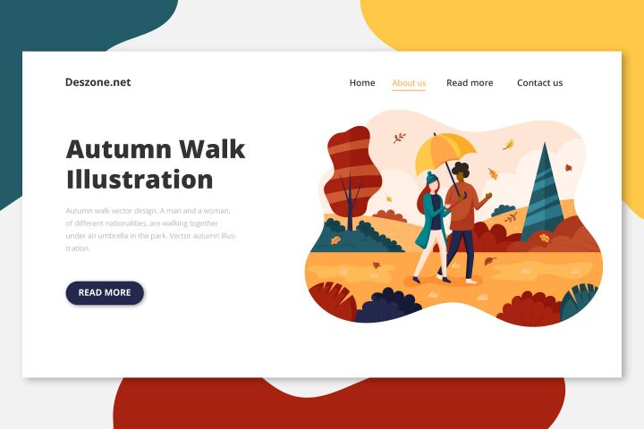 Autumn Walk Vector Design