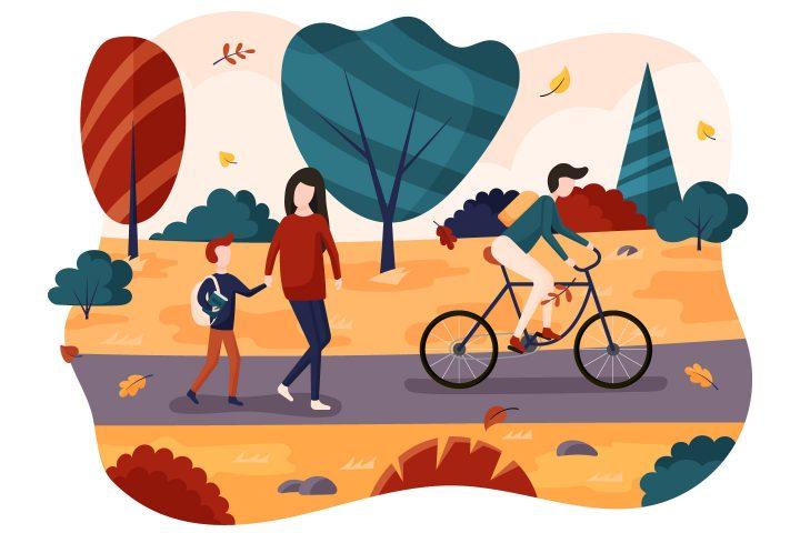 Back to School Free Autumn Illustration