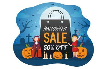 Halloween Sale Vector Illustration