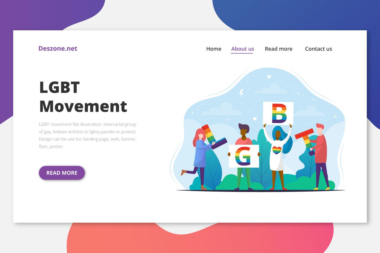 LGBT Movement Flat Illustration