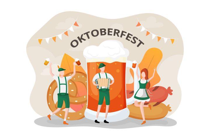 Oktoberfest Vector Flat Illustration