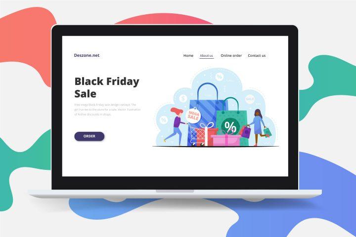 Free Mega Black Friday Sale Design Concept