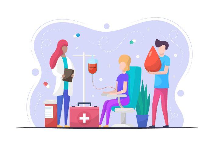 Blood Donation Vector Illustration