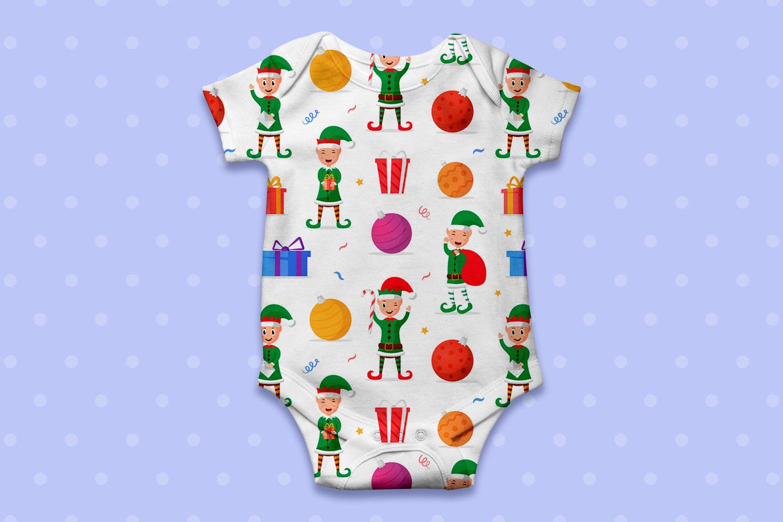 Christmas Elves Vector Seamless Pattern
