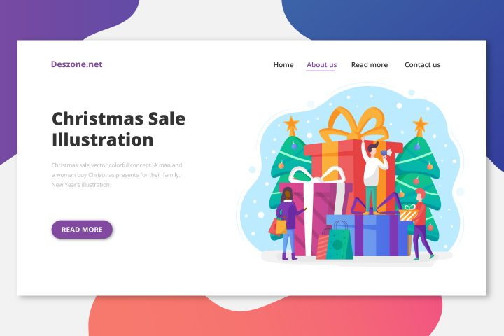 Сhristmas Sale Vector Colorful Concept