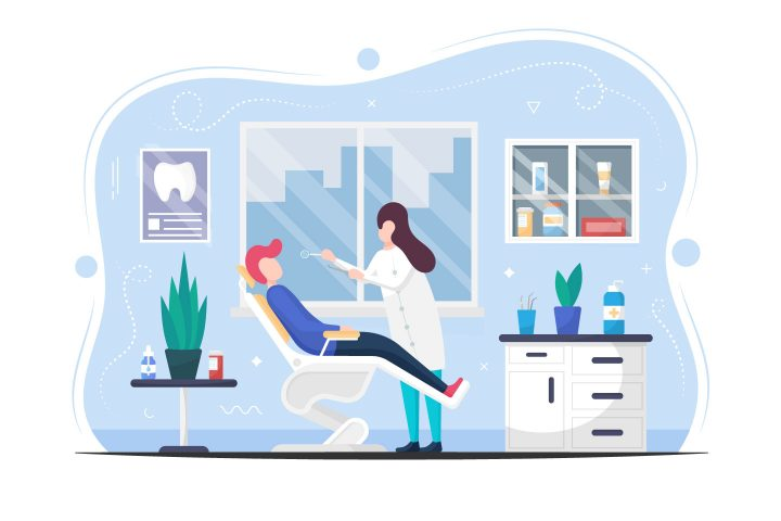 Dentist Appointment Vector Flat Design
